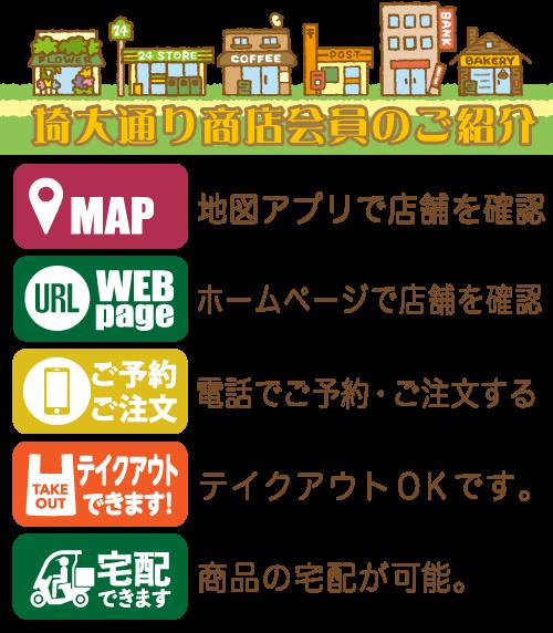 埼大通り商店会の会員紹介ページスマホ用